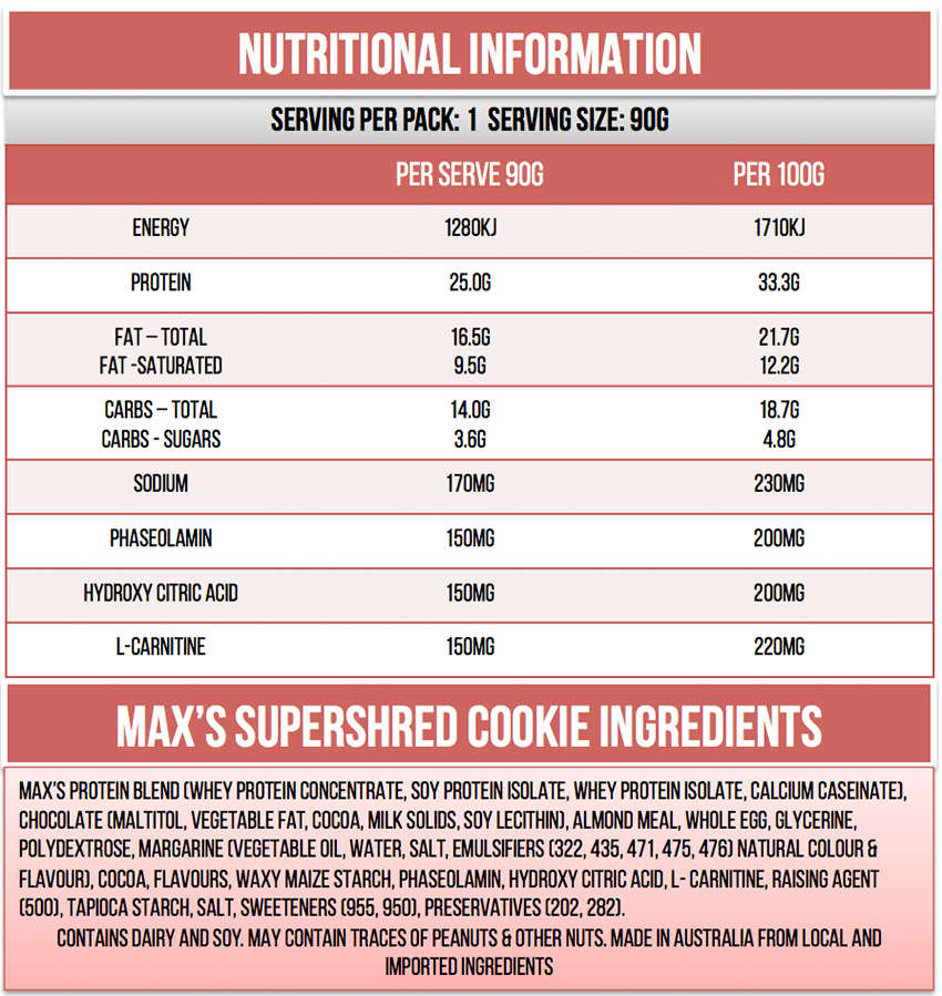 Max's Supershred Cookie